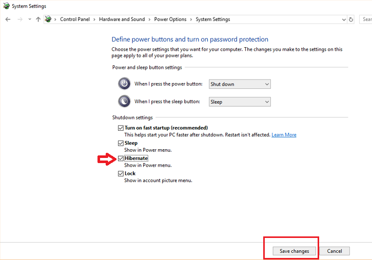 How to Add Hibernate Button to Power Options in Windows 10