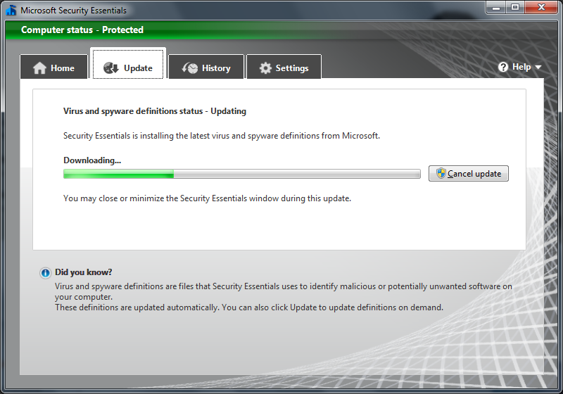 download microsoft security essentials for windows 7