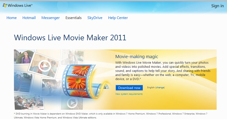 windows live movie maker free download windows 7 64 bit