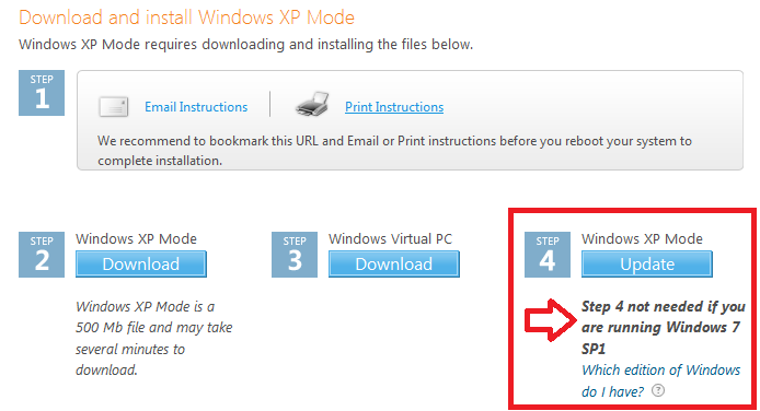 Downloading and Installing Windows XP Mode and Windows