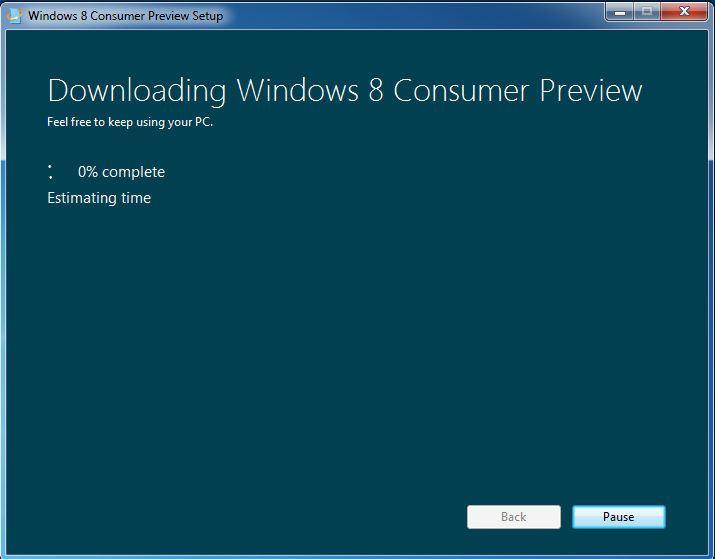 Upgrading Windows 7 To Windows 8 Consumer Preview Build