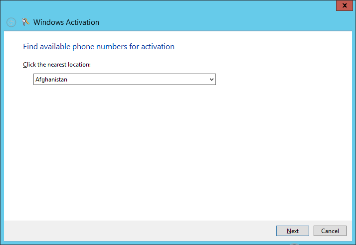 windows server 2008 r2 activate by phone