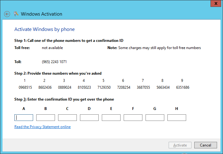 microsoft windows activation phone number toll free