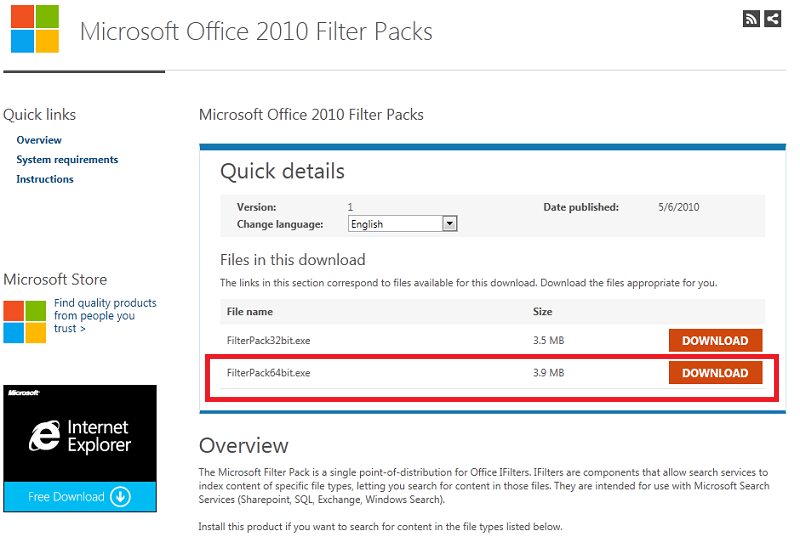 Installing microsoft exchange server 2013 prerequisites on - Office filter pack for exchange 2010 ...