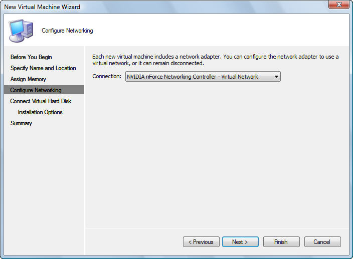 how to install a virtual network win 10
